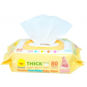 "Piyo Piyo ""Pure Water"" Baby Wipes 80 Sheets"
