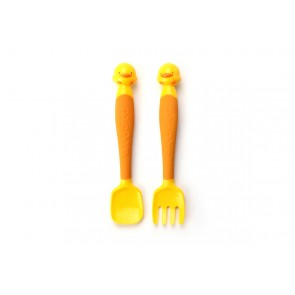 Piyo Piyo Stylish Bendable Spoon and Fork Set